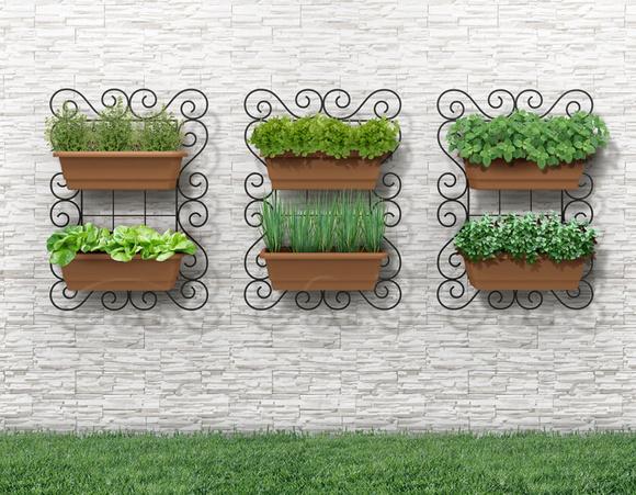 horta em jardim vertical : horta em jardim vertical: Painel Horta Vertical Classico 50x70cm