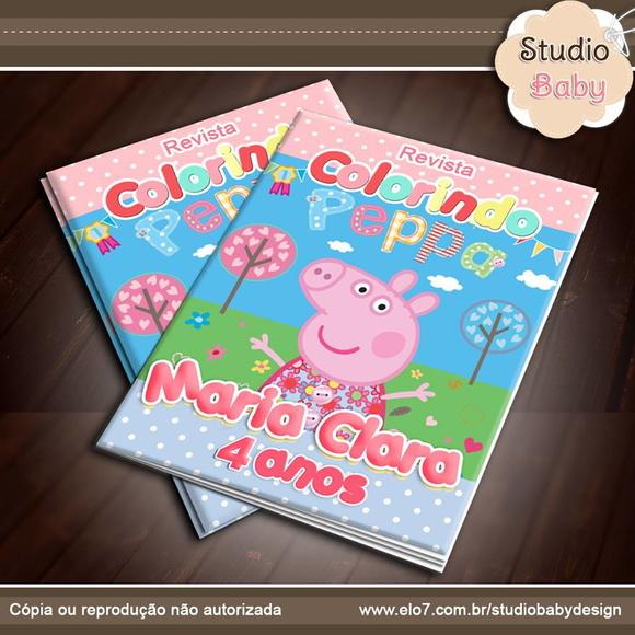 Revista De Colorir Peppa Pig