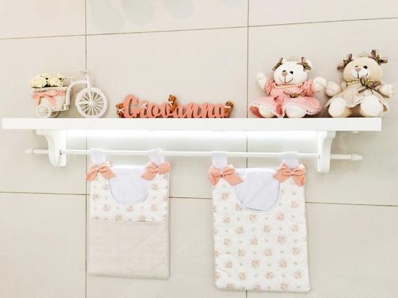 Prateleira com decoração  Sammy Baby  Elo7