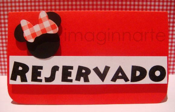 CART�O P/ RESERVA DE MESA - MINNIE