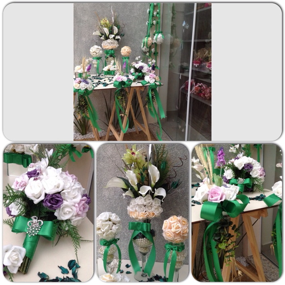 kit decoracao casamento:kit-festa-casamento-igreja-esmeralda-decoracao-festa-mini-casamento