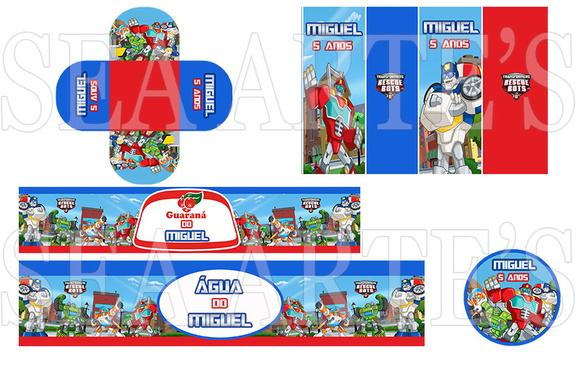 Kit Festa Transformers Rescue Bots Transformers  All about loving