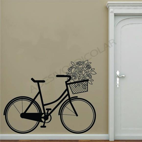 Armario Jardin Resina ~ Adesivo Para Parede Decorativo Bicicleta Adesivos Dicolar Elo7