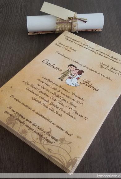 Início > Convites > Casamento > Convite de Casamento Pergaminho