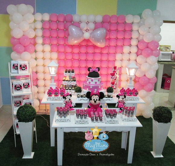 Decoracao Minnie Provencal Vermelha Bolo Da Minnie Decoracao Minnie