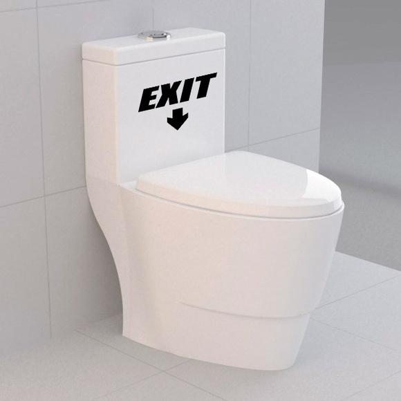 Artesanato De Valença Bahia ~ Adesivo para vaso sanitário Exit BRINDE 1 Pinguim de