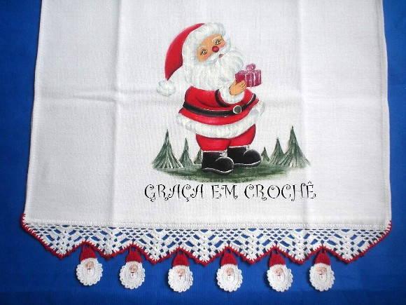 Pano de Prato Papai Noel 2