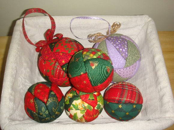 Bolas de natal patchwork