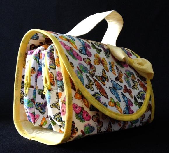 Necessaire dupla na bolsa borboleta amar atelier by - Amar atelier ...