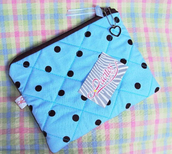 N�cessaire Basic Polka Dots Blue Brow