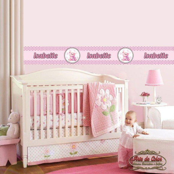 Tiras Adesivas Para Quarto De Bebe ~ Adesivo Faixa Border Quarto do Beb? 02  Arte de Colar Adesivos
