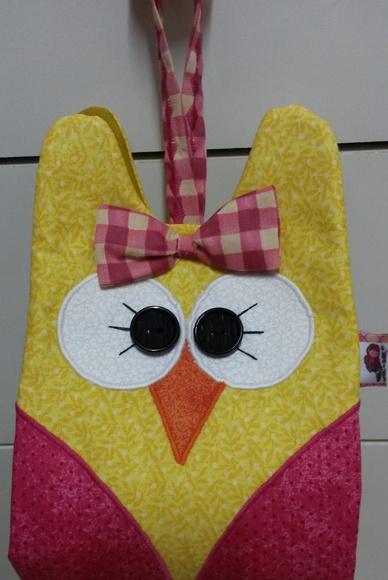 Porta papel higi nico coruja art s e patchwork elo7 for Accesorio para papel higienico