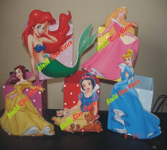 ENFEITE DE MESA AS PRINCESAS DISNEY