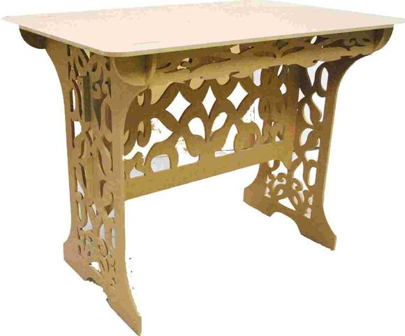 Mesa Desmontável em MDF Crú Arabescos  Eco Wood  Elo7