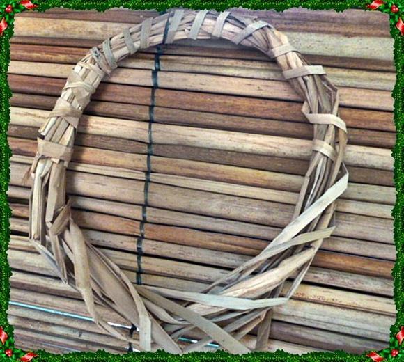 Guirlanda natal - palha rustica kit c/3
