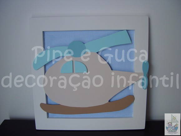(DO 0027) Quadro decorativo helicptero