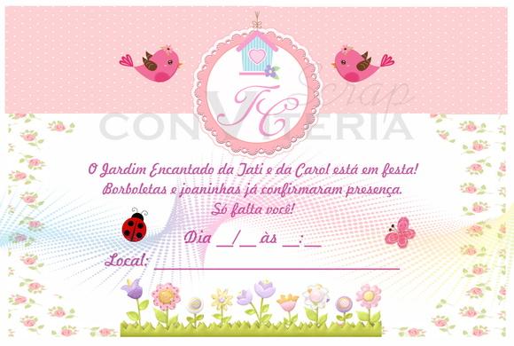 festa jardim convite : festa jardim convite:Convite – Jardim Encantado