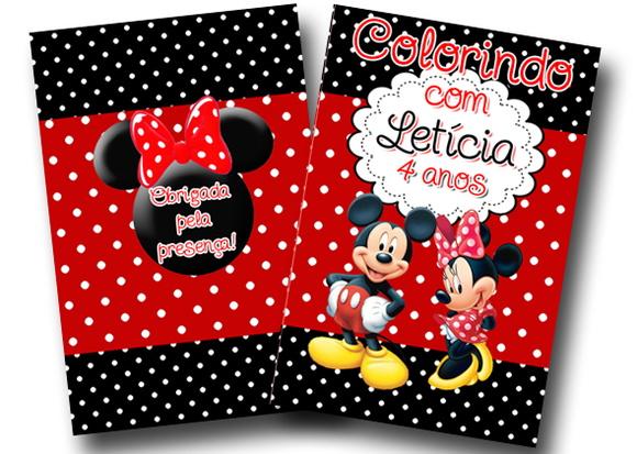 Revista Colorir Mickey E Minnie No Elo7