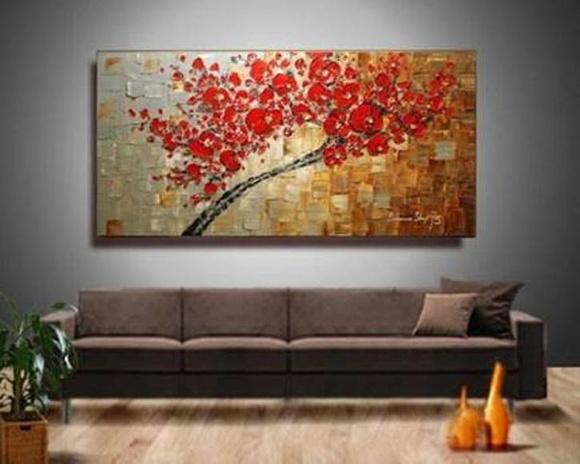 Quadro pintura rvore moderna em relevos jk galeria de for Pintura acrilica moderna