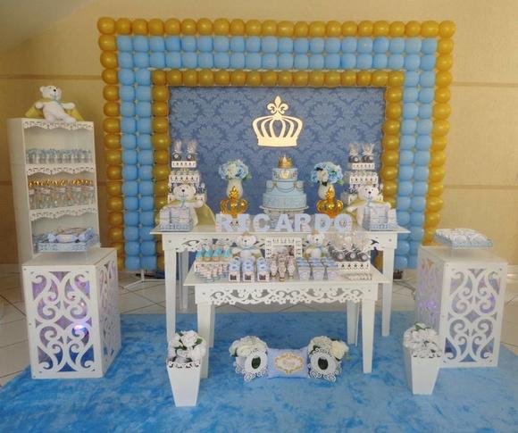 Festa Realeza Menino Bellana Decoraç u00e3o Elo7 -> Decoração De Festa Infantil Realeza