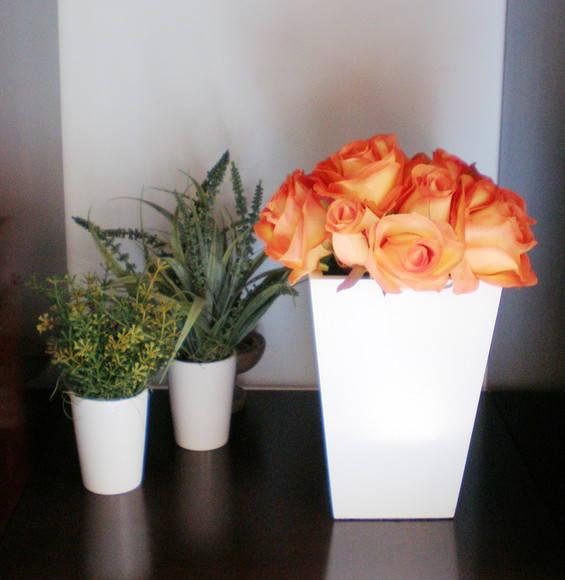 Vaso com flores laranja