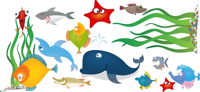 Papel de parede para quarto infantil fundo do mar yazzic for Papel de pared infantil
