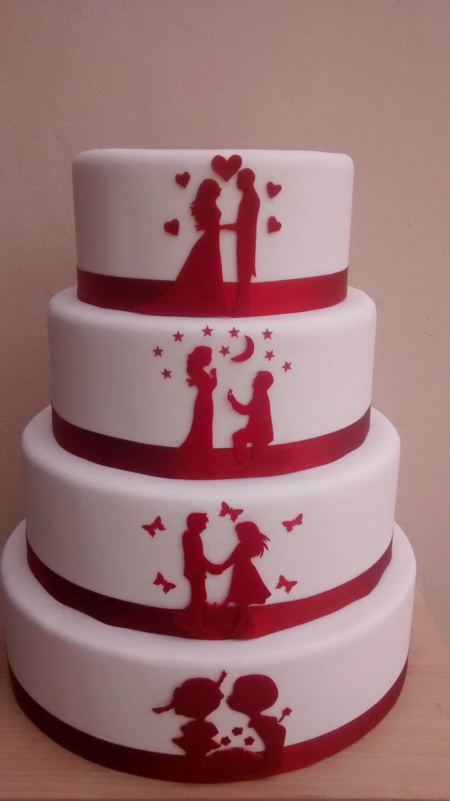locacao bolo casamento branco silhueta bolo branco   silhueta