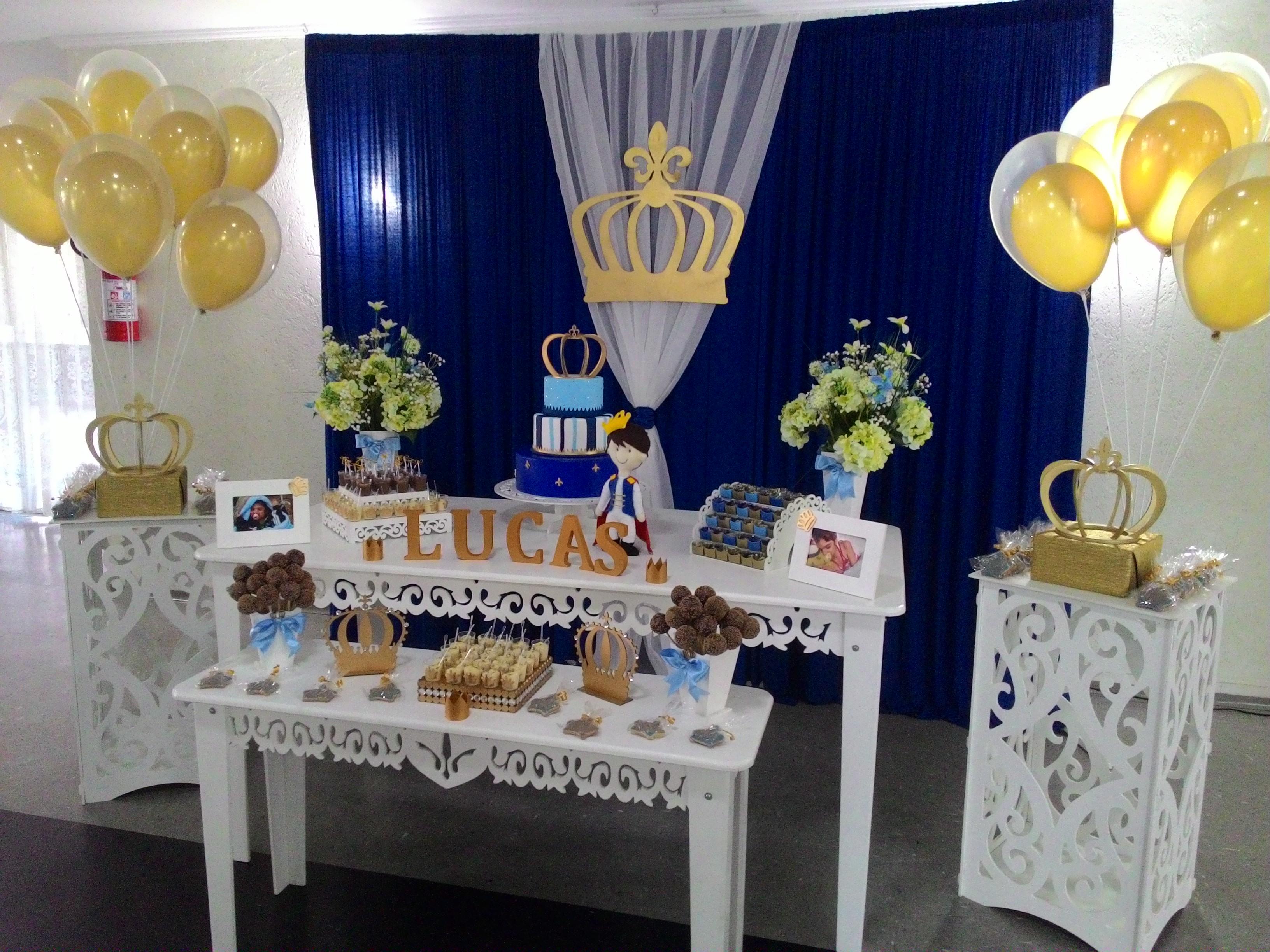 Decoraç u00e3o Príncipe Arte em Família Decorações Elo7 -> Decoração Cha De Bebe Ursinho Principe Simples