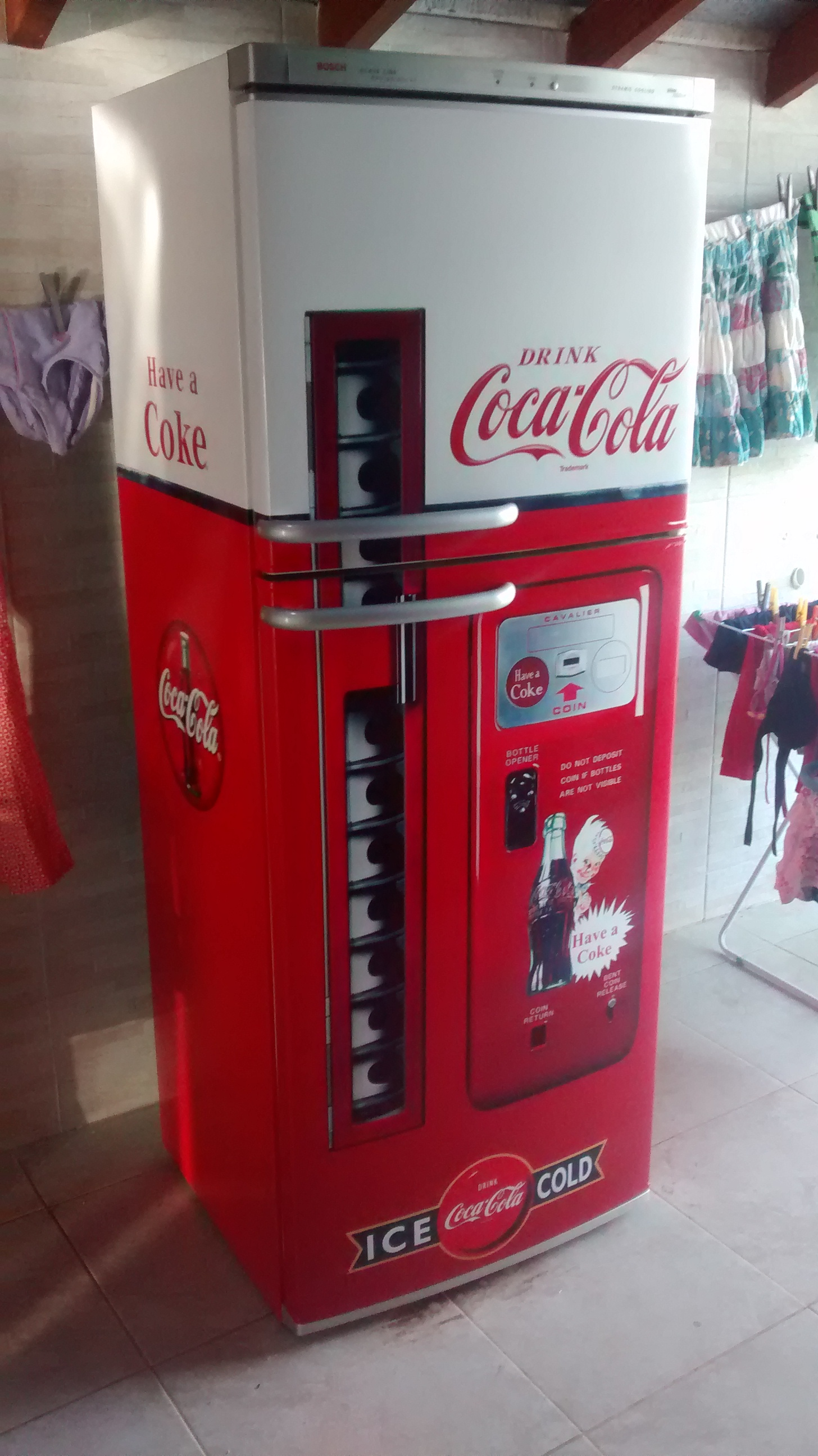 Adesivo De Kart ~ Adesivo p Geladeira Máquina Coca Cola Ultra decora Elo7