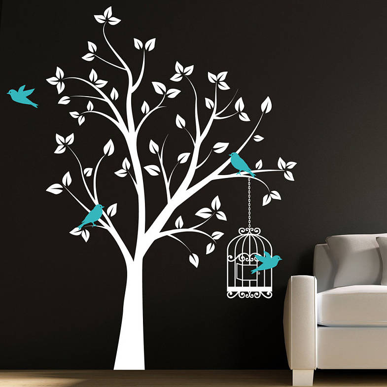 Wall Decor Trees Silhoutte Painting
