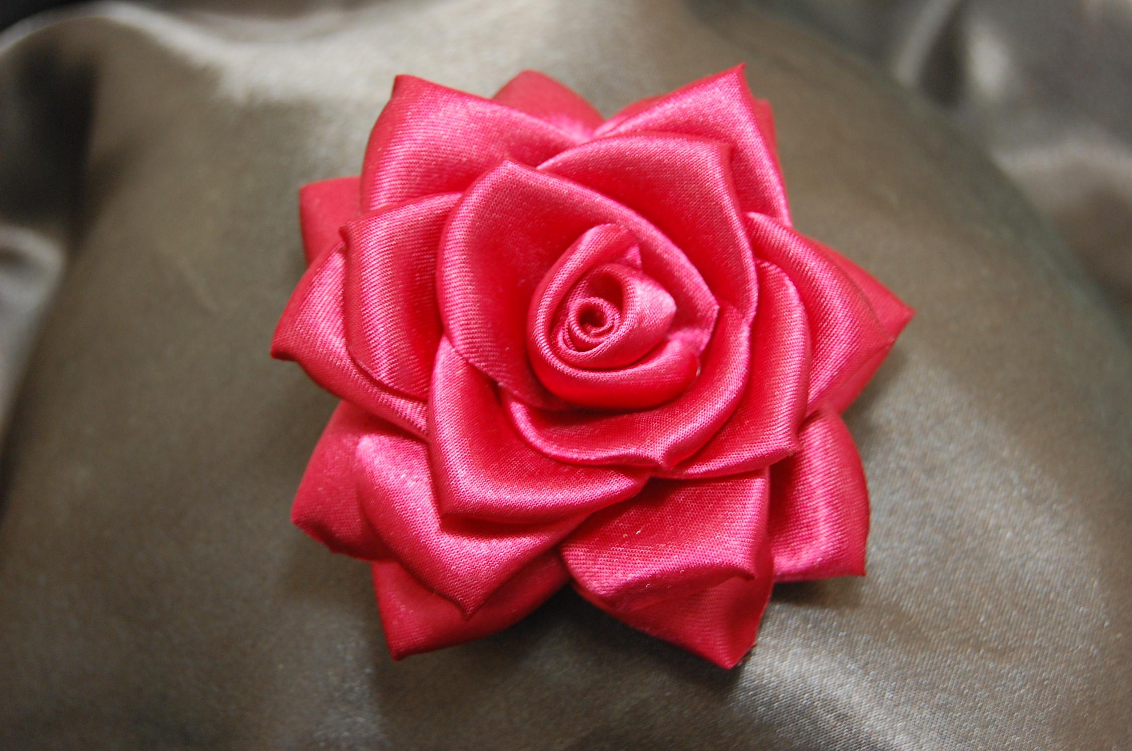 Rosa vermelha de veludo no Elo7 | Amor Lindo Boutique (A189E5)  |Rosa Flor Vermelha