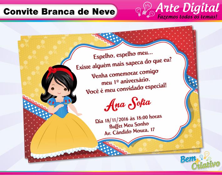 Tag Frases Convite Aniversario Branca De Neve