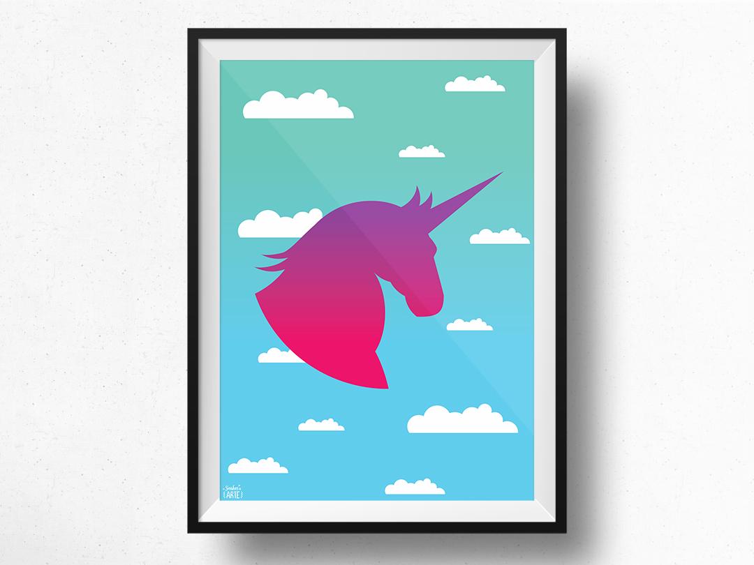 Poster unic rnio digital design sonhos e arte elo7 for Poster de pared grandes