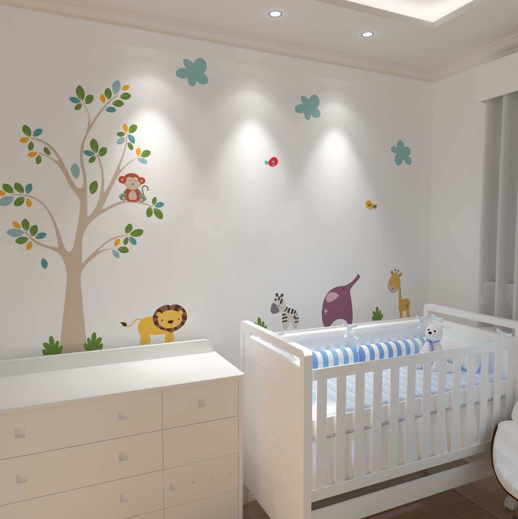 Adesivos para Quarto de Bebê Safari Mimo Infantil Elo7 ~ Quarto Verde Marinho