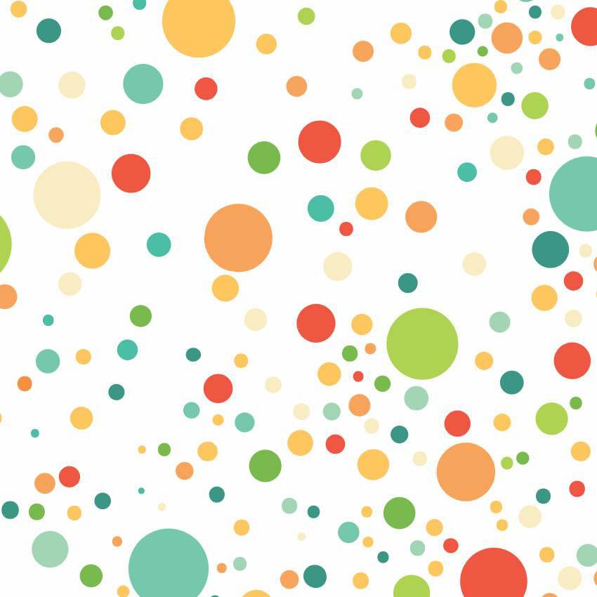 Papel de parede c rculos coloridos espal jmi decor elo7 - Papel de pared de rayas ...