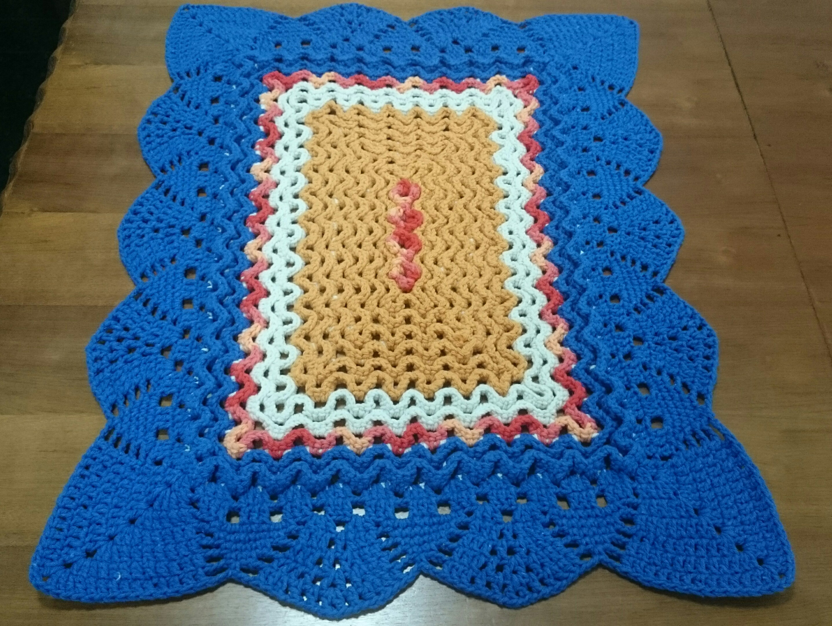 Tapete de crochê retangular Todah Crochet Elo7 #08448F 2874 2160