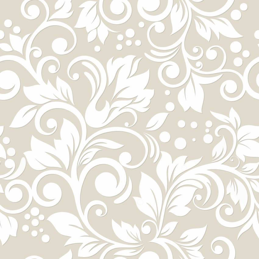 Papel de parede arabesco floral branco jmi decor elo7 for Papel de pared negro