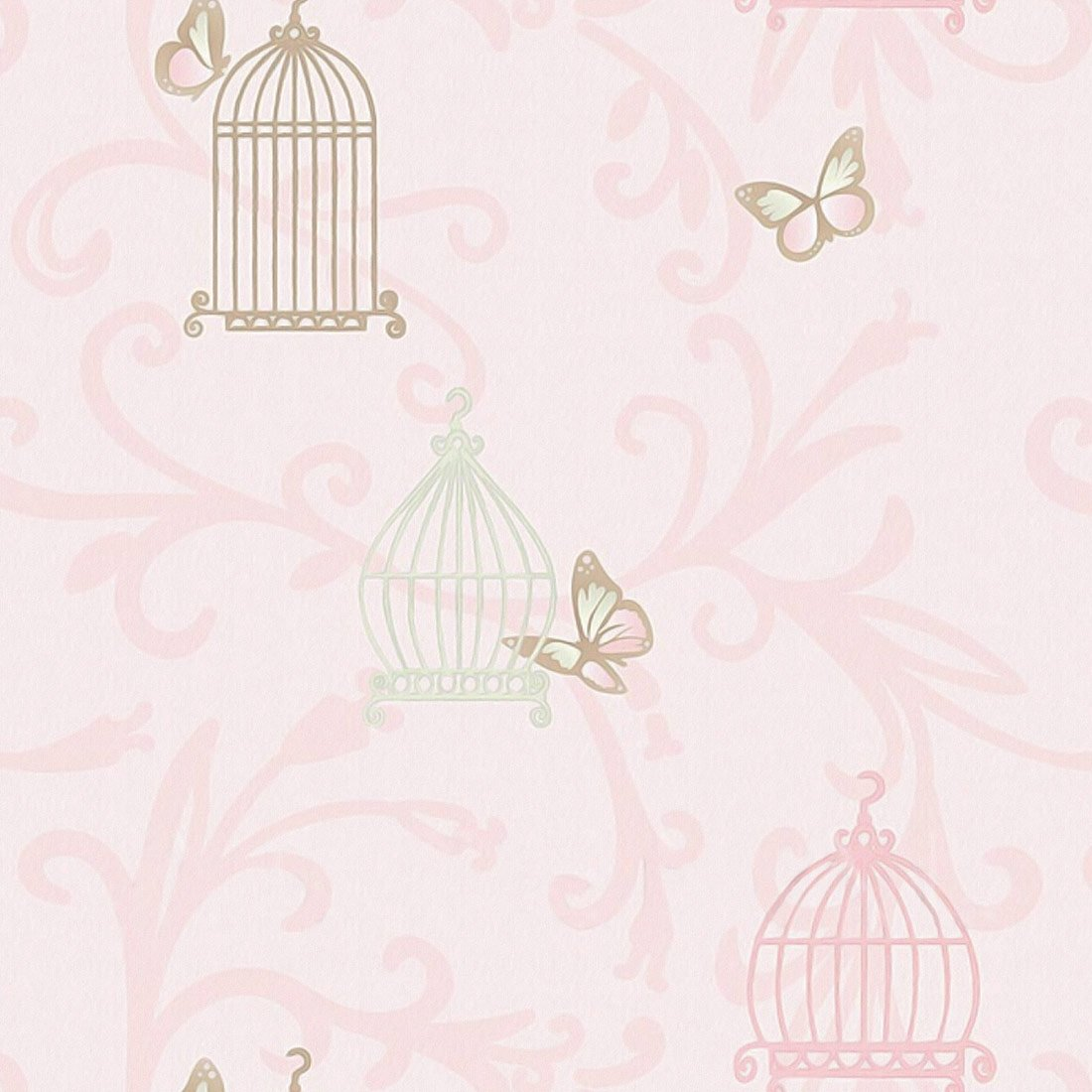 20170322182817 papel de parede rosa quarto de bebe for Papel pared infantil