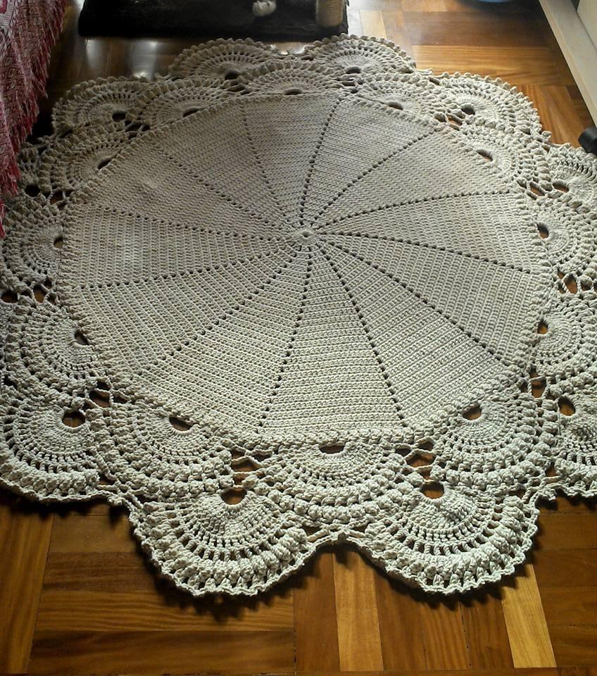 tapetes de croche para sala simples de fazer
