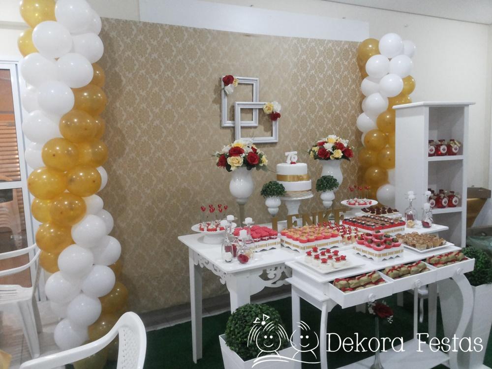 Decora o proven al dourada dekora festas elo7 for Decoration e