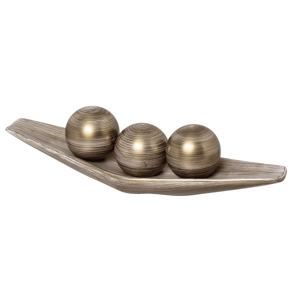 Base com bolas decorativas dourado cer mica burguina elo7 for Bolas para piscina de bolas