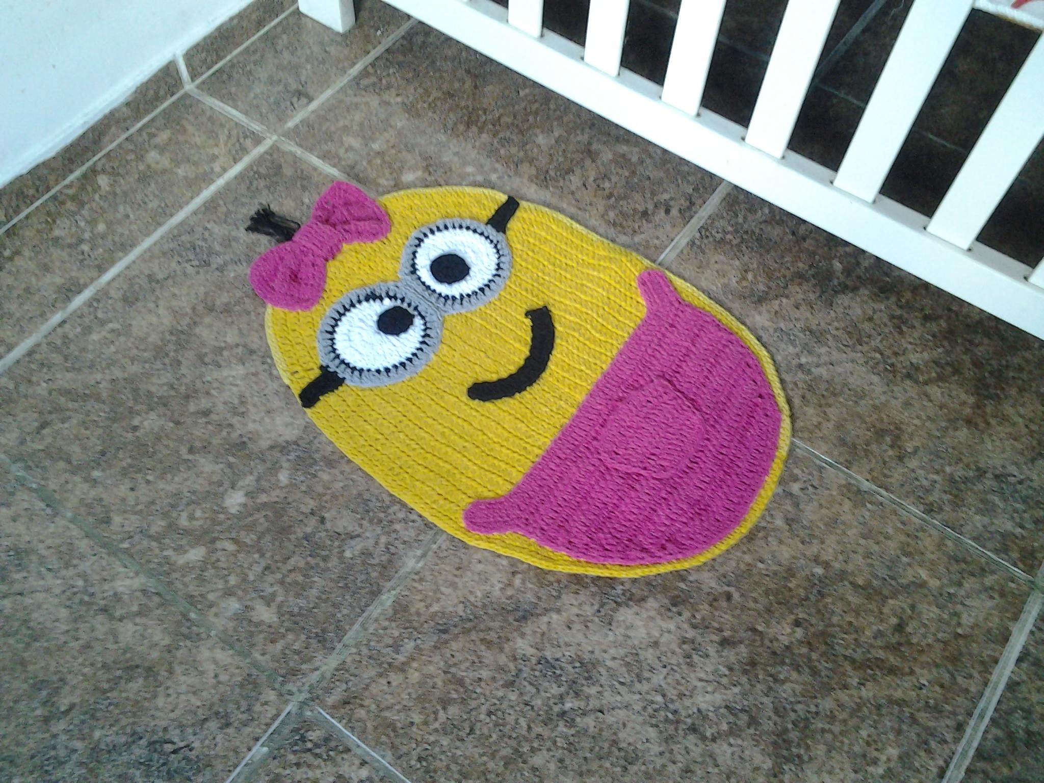Tapete Minions De Croche : tapete-minions-menina-minions-menina