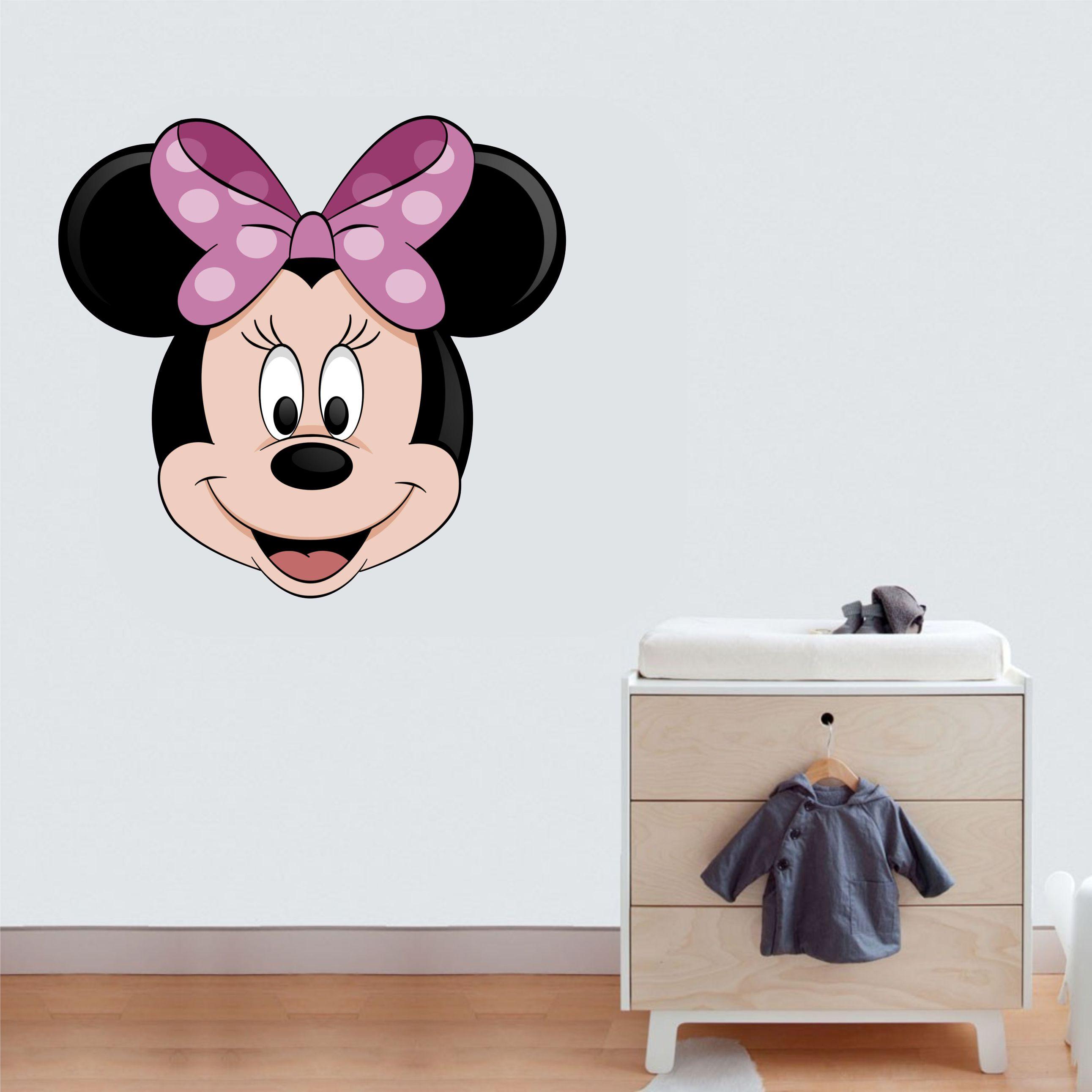 Papel De Parede Adesivo Herois ~ Adesivo Parede Minnie Mouse Desenho Inove Brindes Elo7