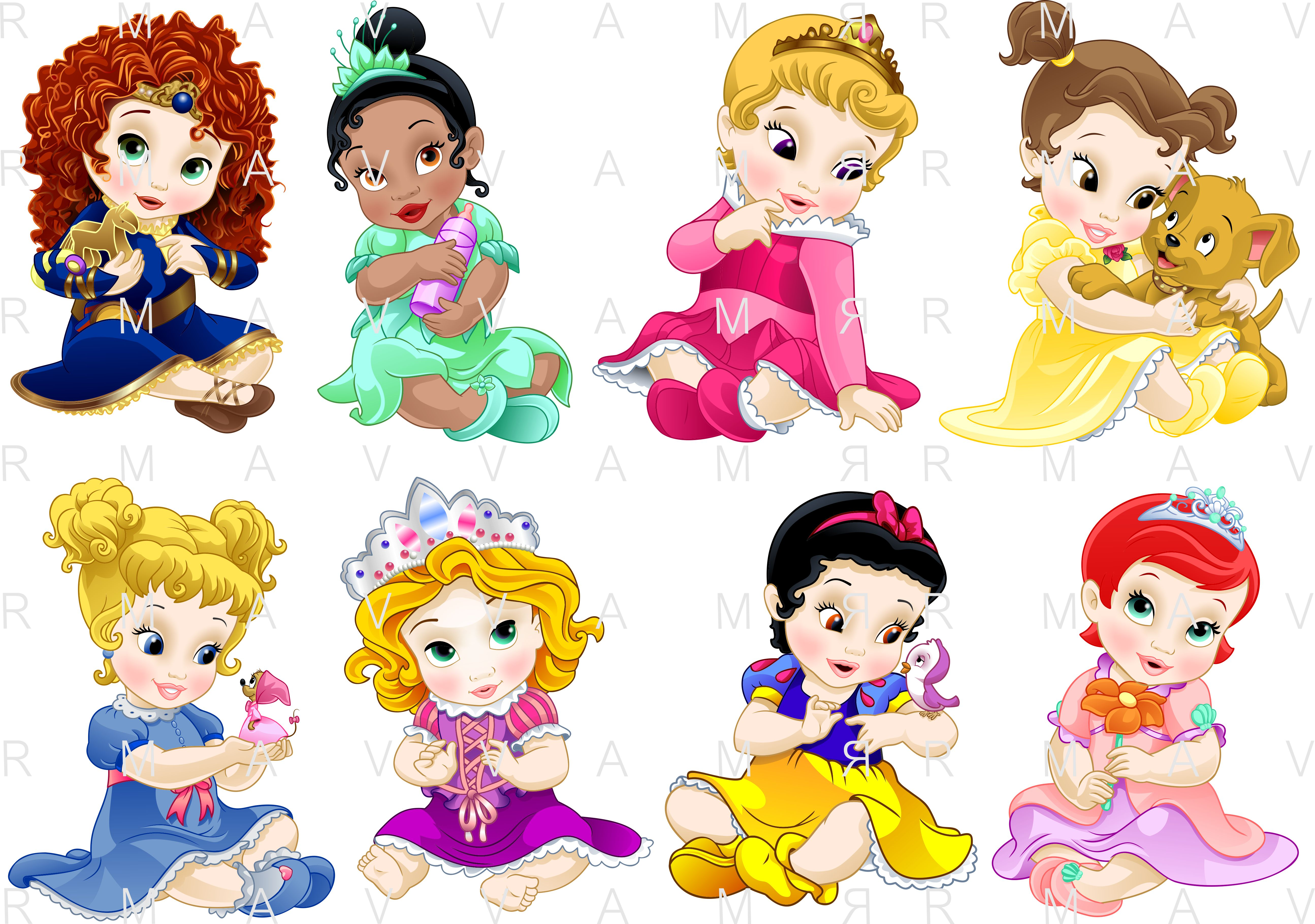 Disney Prince Baby Group Coloring Pages