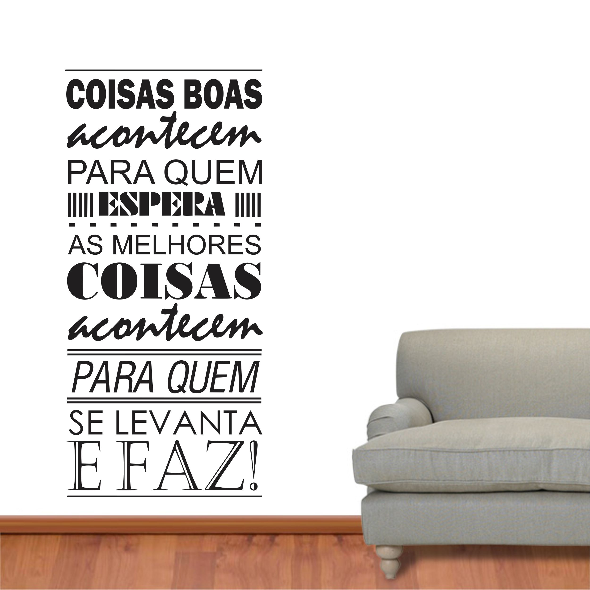 adesivo parede frase coisas boas amor inove brindes elo7. Black Bedroom Furniture Sets. Home Design Ideas