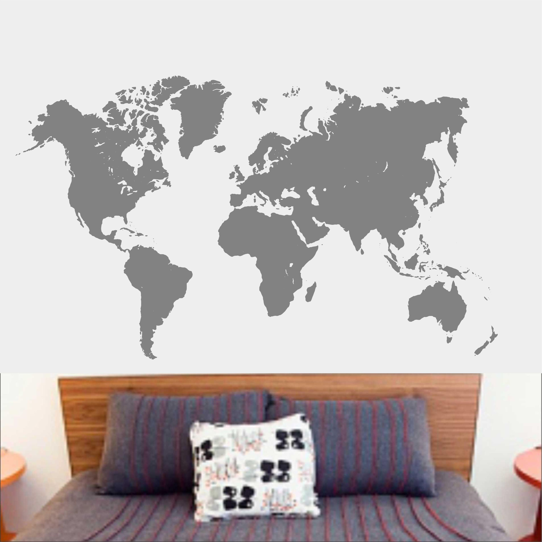 Aparador Verde Musgo ~ Adesivo De Parede Mapa Mundi Mundo Inove Brindes Elo7