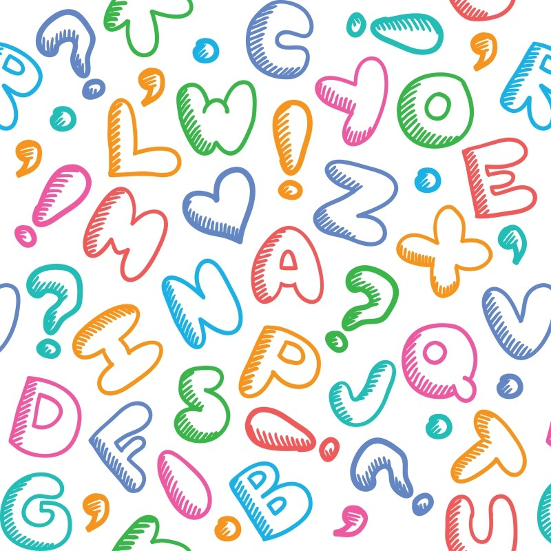 Papel De Parede Alfabeto Colorido Com Po  JMI DECOR  Elo7