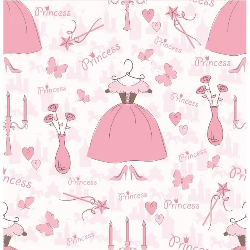 Princess closet papel de parede princesa vestido e vaso - Habitaciones de princesas ...