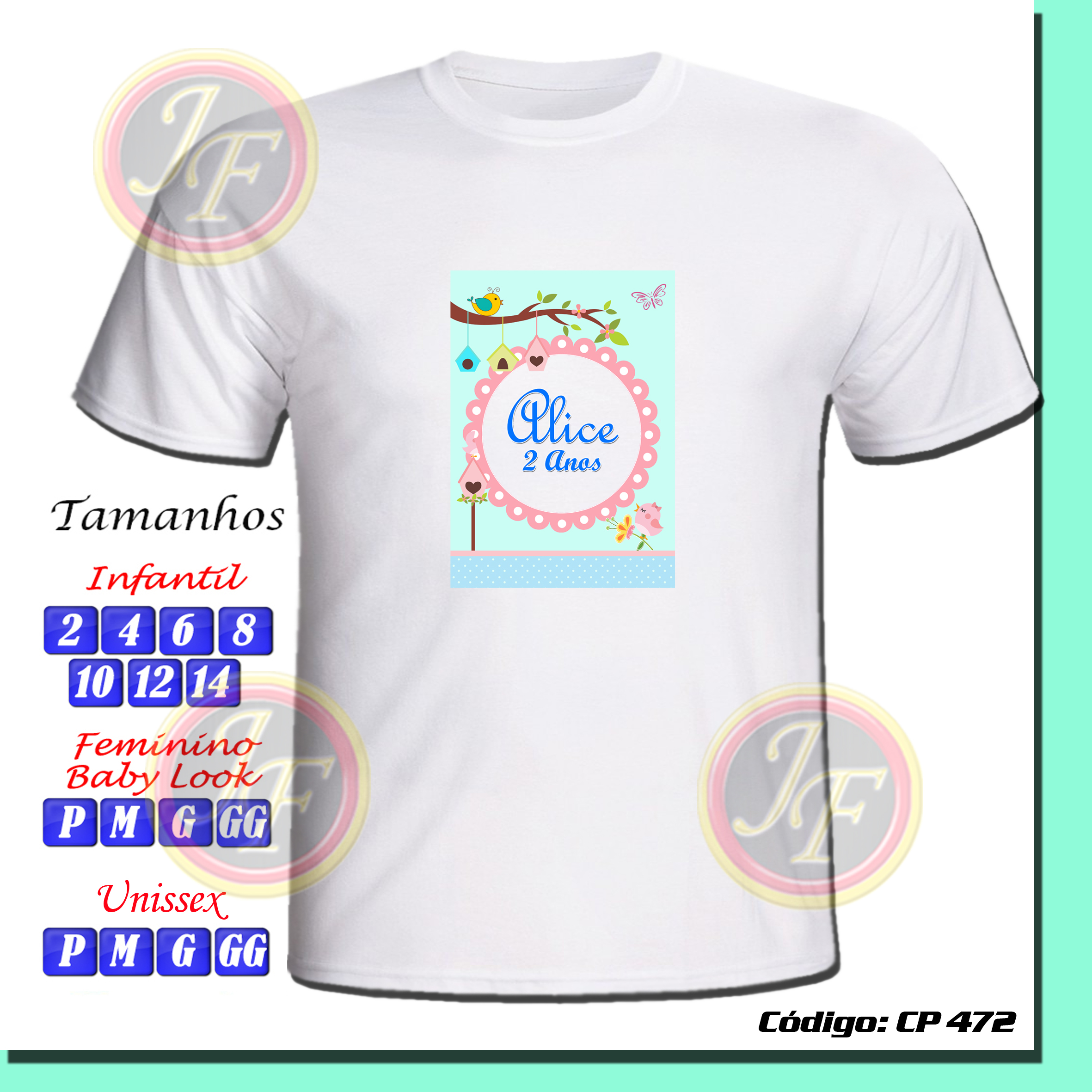 24db201271 Camiseta Personalizada Jardim Transfer