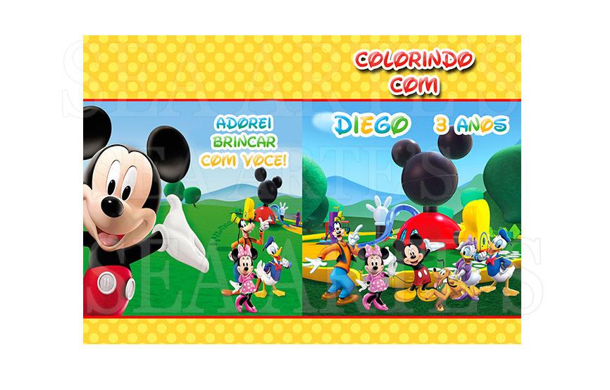 Kit Colorir - Casa Do Mickey Mouse